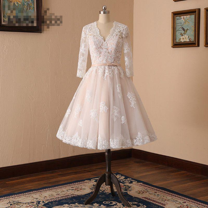 Acheter 2018 Elegnat Robe De Mariée Vintage
