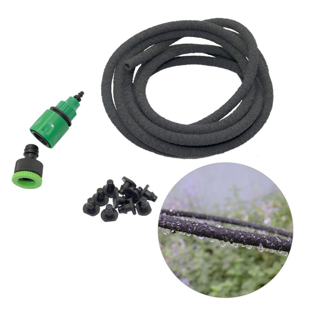 Kit di irrigazione per tubo flessibile da 20m Agricoltura Albero da frutto Scarico di irrigazione Tubo da 4 / 9mm Kit di tubi per infiltrazioni con connettori rapidi