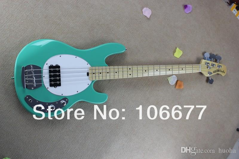 Free Shipping !! Hot Sale High Quality Ernie Ball Musicman Music Man Sting Ray 4 Strings Green Electric Bass Guitar In Stock