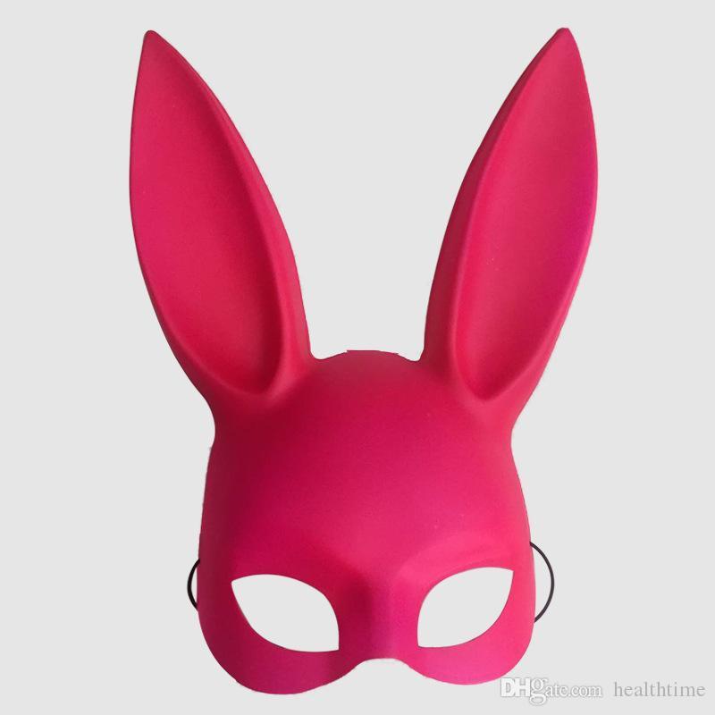 New Fashion 2018 Bar KTV masquerade mask the rabbit ears Bunny mask The Easter bunny mask Free shipping
