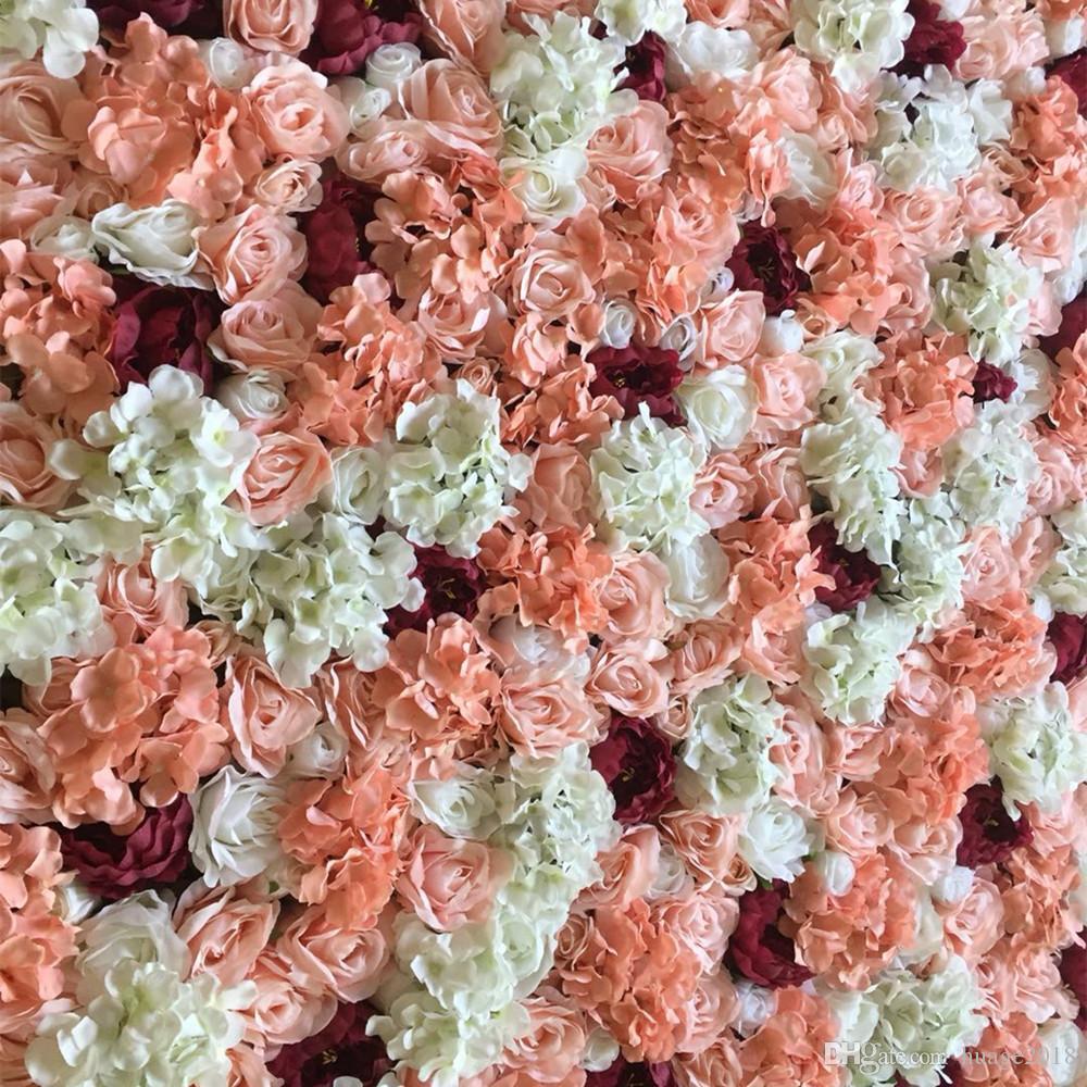 Искусственный шелк Роза бордовый пион цветок стена свадьба фон газон/столб дороги приводят украшения рынок