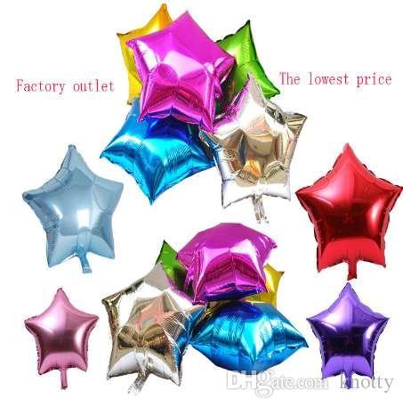 Рождество гелий шар звезда свадьба большой алюминиевой фольги воздушные шары надувные подарок день рождения украшения 10 дюймов
