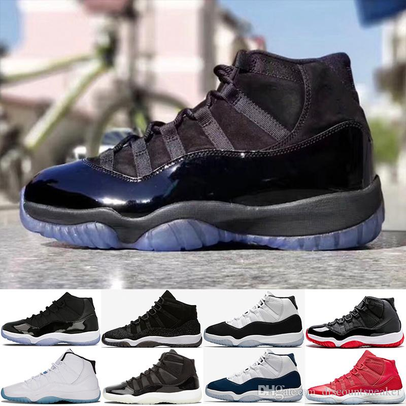 Nuevo 11 Gorra y vestido Noche de baile 11s Hombres Zapatillas de baloncesto Space Jam Bred Concord PRM Heiress Win Like 96 legend blue zapatillas