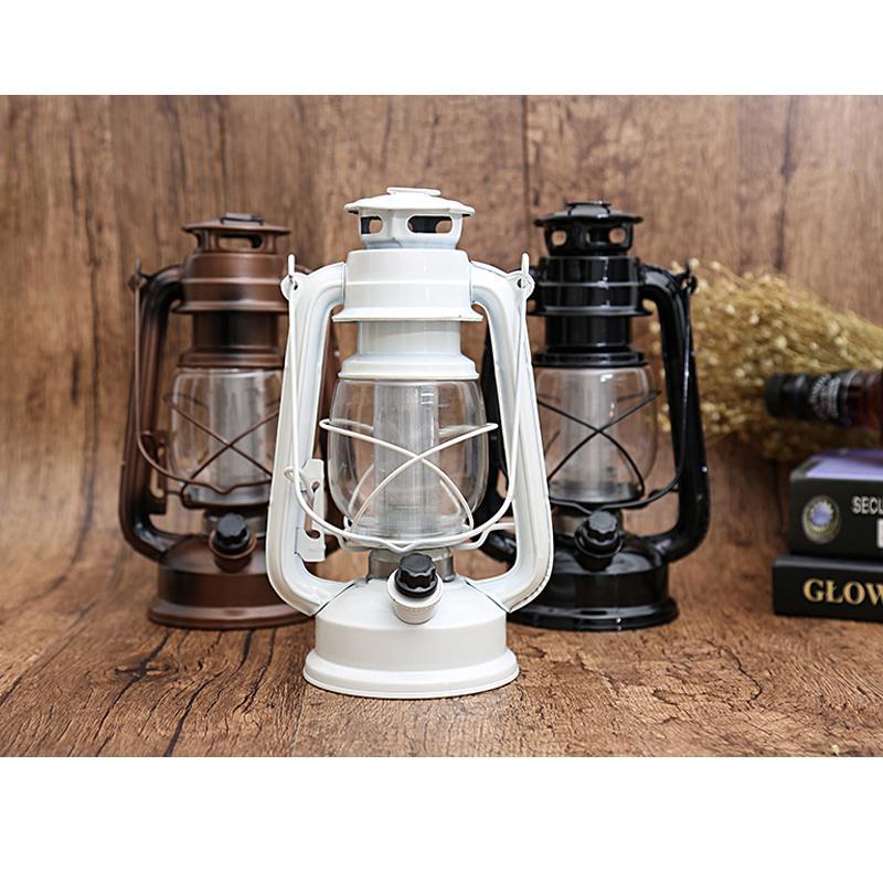 2016Retro Lamparina Tenda Camping LED Estilo Vintage Querosene lâmpada ao lado Luz Para Bar Coffee Shop Luzes Led Luz Bateria