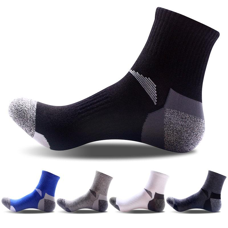 quality men cotton socks sporting socks reinforcement design for heel toe basket ball calcetines hombre compression