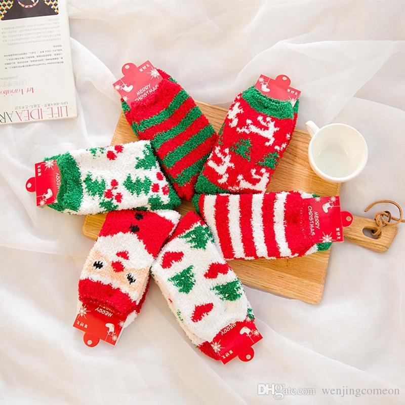 Crew de invierno de Navidad divertida de algodón calcetines de Santa Muñeco de nieve divertido Mujer Arte Calcetines de Navidad regalo feliz calcetines de algodón