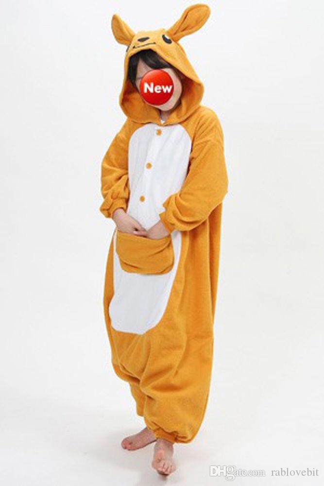 Chaude Belle Kangraoo Éléphant Unisexe Adulte Pyjama Kigurumi Anime Cosplay Costume Animal Onesi1 Vêtements