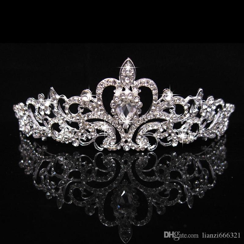 Brand New Bridal Wedding Crystal Rhinestone Hair Headband Princess Crown Comb Tiara Prom Pageant 1 Pc Free Shipping HJ225