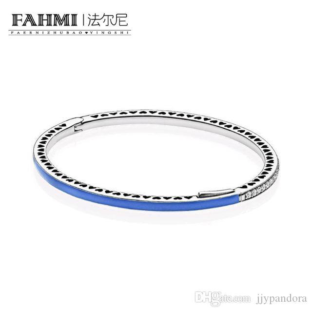 FAHMI 100% 925 plata esterlina 1: 1 Original auténtico 590537EN82 encanto pulsera básica conveniente DIY joyería moldeada mujeres