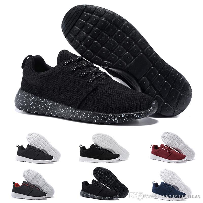 Commercio all'ingrosso 2018 New London Olympic Classic All Black White Ink Scarpe da corsa per uomo donna Sport London Olympic Womans Mens Trainers Sneaker