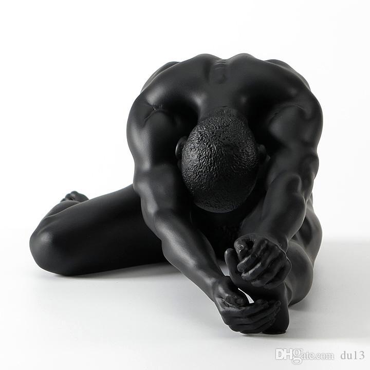 Modern çıplak erkek masculin maskesi ölür Yıldız çıplak sanat erkekler Yaratıcı çıplak sanat erkek jimnastik heykel dekorasyon