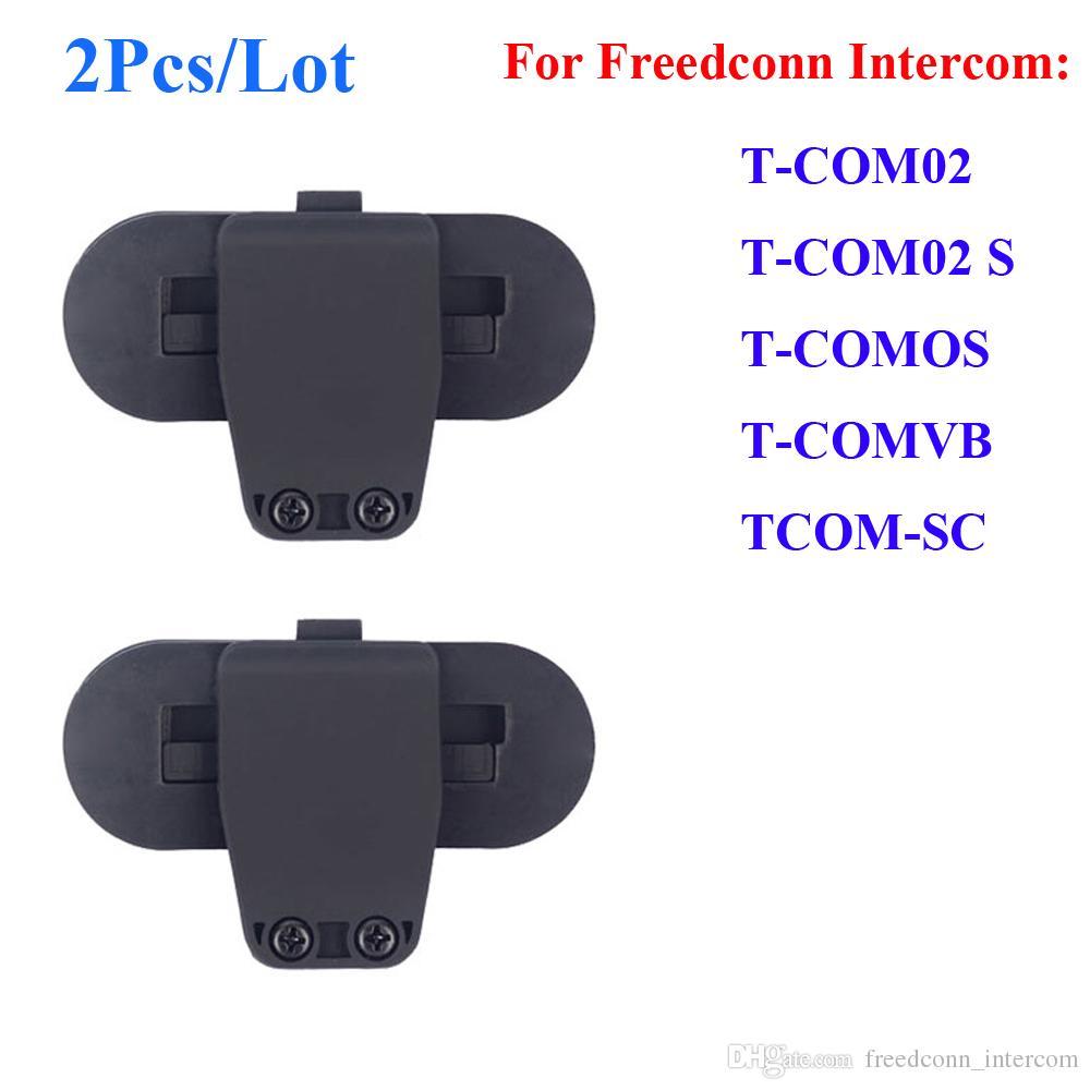 2 Pcs/Lot Freedconn Clip Parts for T-COM02/S TCOM-OS T-COMVB TCOM-SC Motorcycle Bluetooth Helmet Interphone Clip Buckcle Accessories