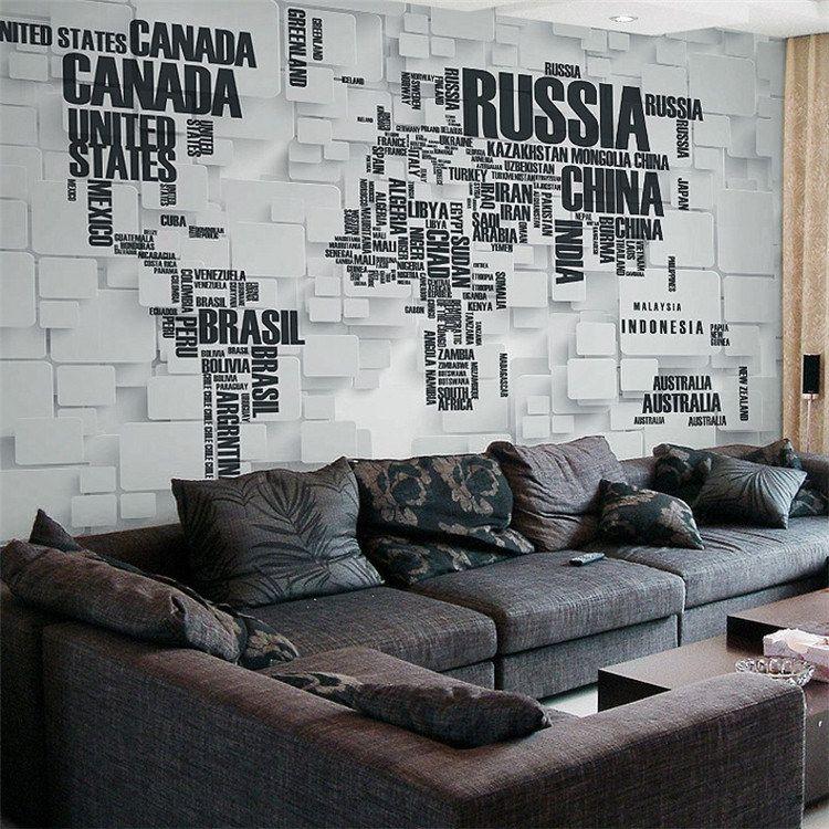 3D Retro Brick Wall Large Mural