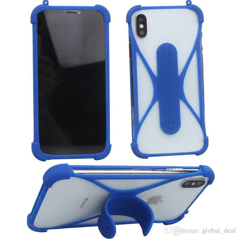 Silikon çerçeve Telefon Kılıfları dokunmatik u tutucu Ile iPhone 5 Için 6 6 s artı Kauçuk Kapak Evrensel Tampon Olgu s5 s6 s7 için