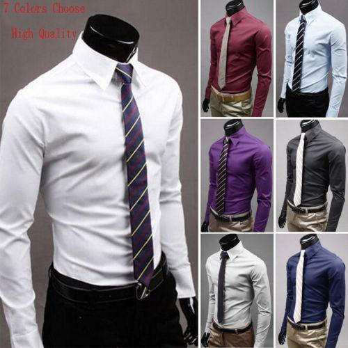 Compre Nuevos Hombres De Lujo Con Estilo Camisa De Vestir Casual Camisas De Corte Slim Formal De Manga Larga Casual Elegante Camisas Para Hombres A