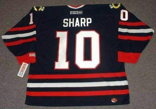 competitive price cb558 83da3 2019 Men Women Youth 2018 Custom Goalie Cut PATRICK SHARP Chicago  Blackhawks CCM Hockey Jersey All Stitched Top Quality Any Name Any Number  From ...
