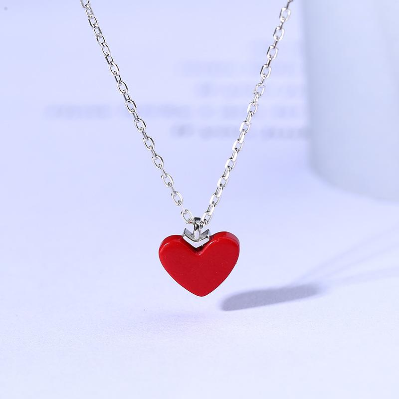 Stylish new Heart Necklace With Genuine Diamond in 925 Sterling silver