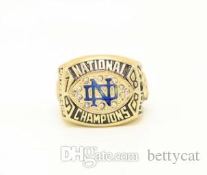 Yeni Erkekler moda takı 1988 Notre Dame üniversitesi şampiyonası yüzük alaşım spor hayranları koleksiyonu hediyelik eşya Yılbaşı hediyesi