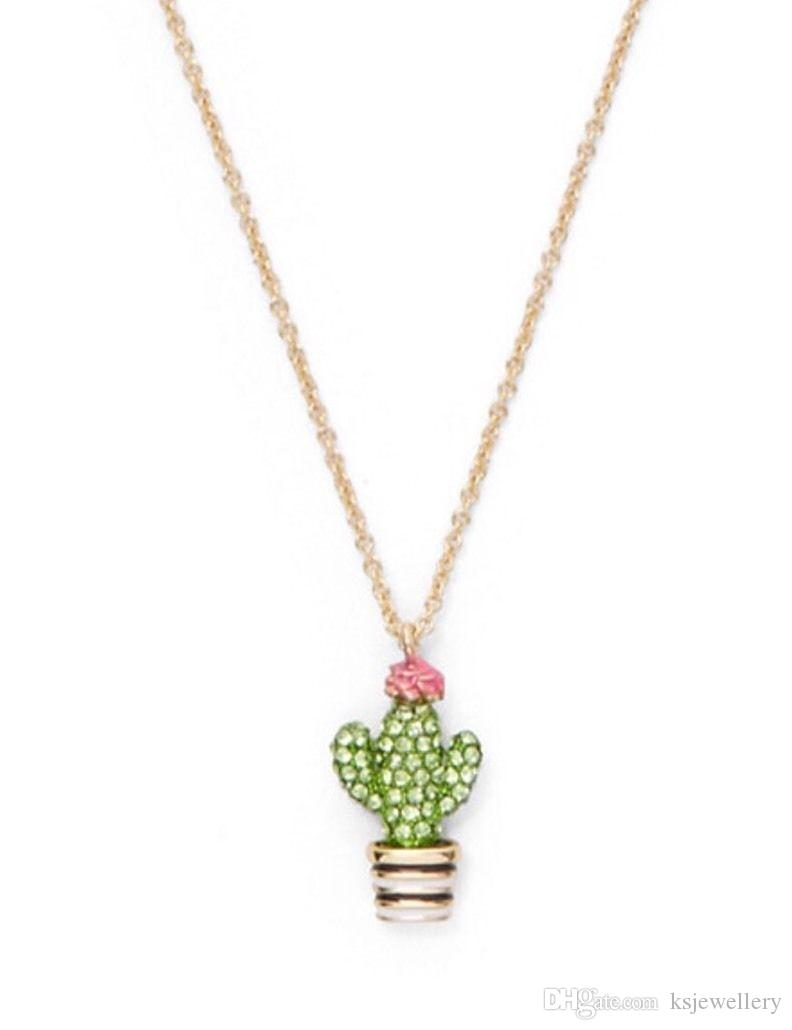 ea18dde15d157 Wholesale New Scenic Route Cactus Mini Pendant Necklace Crystal Necklace  Pendant Silver Chain Necklace From Ksjewellery, &Price;| DHgate.Com