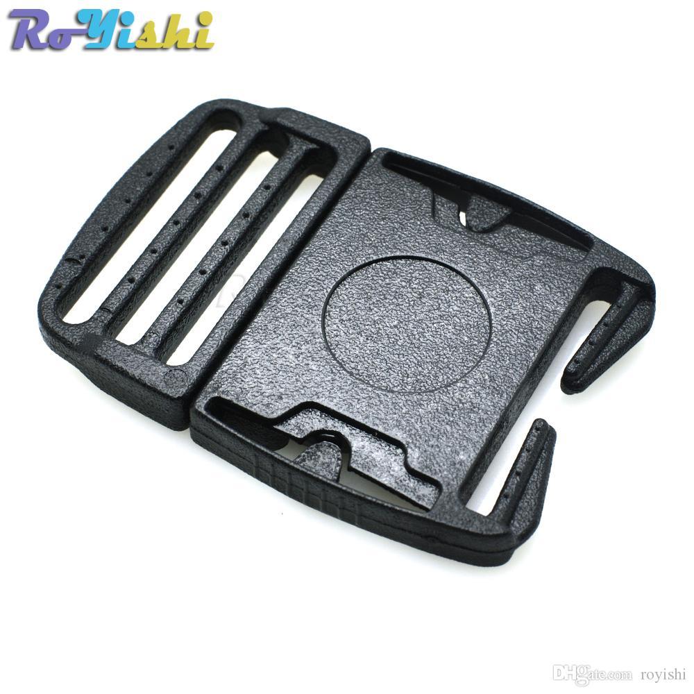 10 unids / lote 33.7mm Correas Hebilla de liberación lateral ultrafina para correas de mochila de equipaje