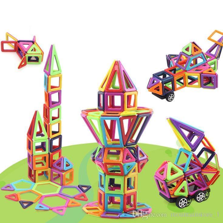 New 234pcs Mini Magnetic Blocks Building Construction Blocks Toy Bricks Magnet Designer 3D Diy Toys For Boys Girls