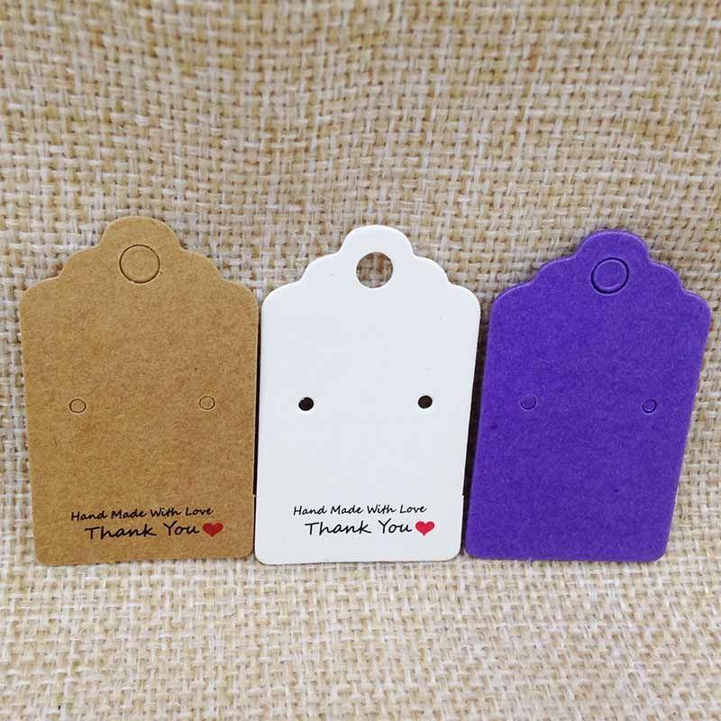 جديد كرافت بطاقة القرط 1 وحدة = 100 قطع 30x50 ملليمتر اليدوية مع الحب القرط بطاقة التقوقع خمر كرافت حلق عرض بطاقة شحن مجاني