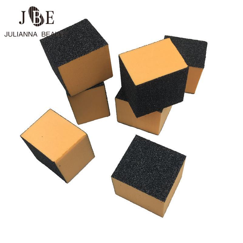 50 unids Negro Mini Buffer 30 * 30 * 25mm Buffer Nail Buffing Lijado Archivos 3 Side Block Acrílico Nail Art Tips Manicura Herramienta Al Por Mayor