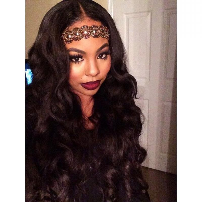 130% Density Full Lace Wigs Unprocessed Brazilian Virgin Human Hair Wigs Body Wave With Pre Plucked Natural Hairline