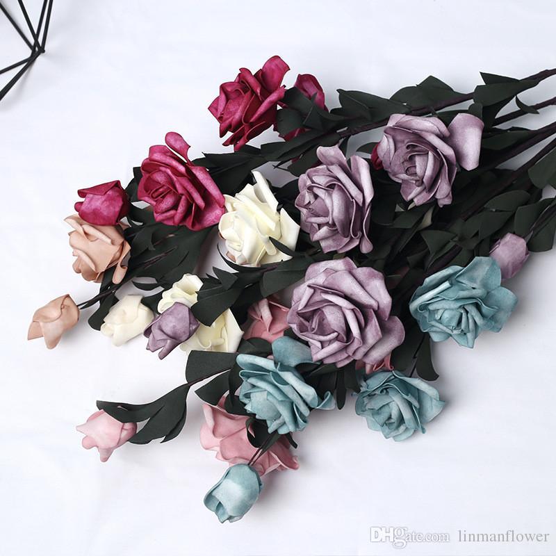 Artificial Flor Rosa Grande Cabezas Artesanía Boda Fiesta Decoración 10cm 5 un
