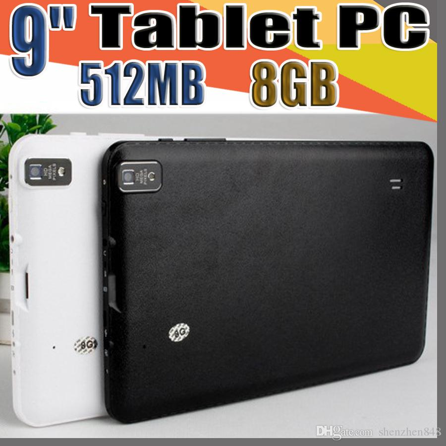 """848 9 9"""" Inch Quad Core Android 4.4 Tablet PC Actions Dual Camera 512MB RAM 8GB Capacitive Touch Screen 1.2GHZ WIFI Allwinner A33 MID B-9PB"""