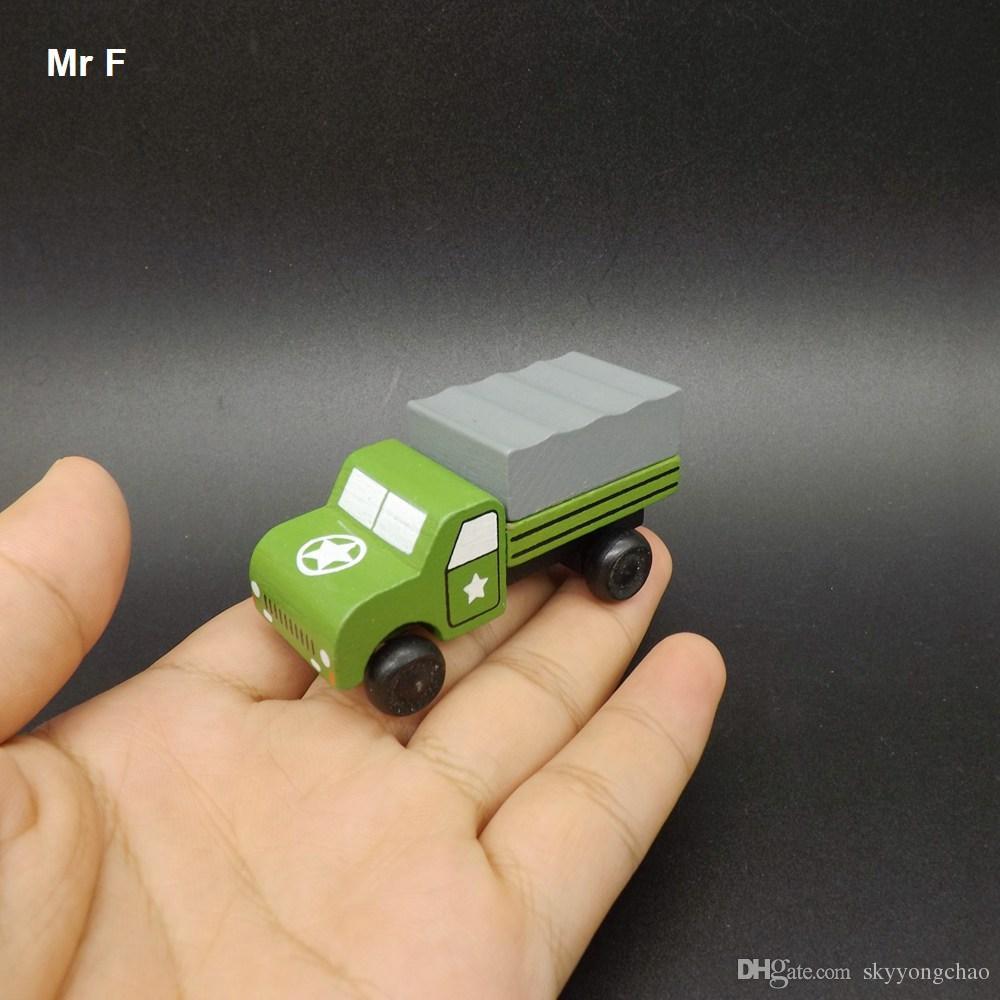 رائعة صغيرة خشبية سيارة مركبة شاحنة العسكرية نموذج ألعاب تعليمية هدية للطفل التعلم التعليمية التدريس الدعامة الأداة