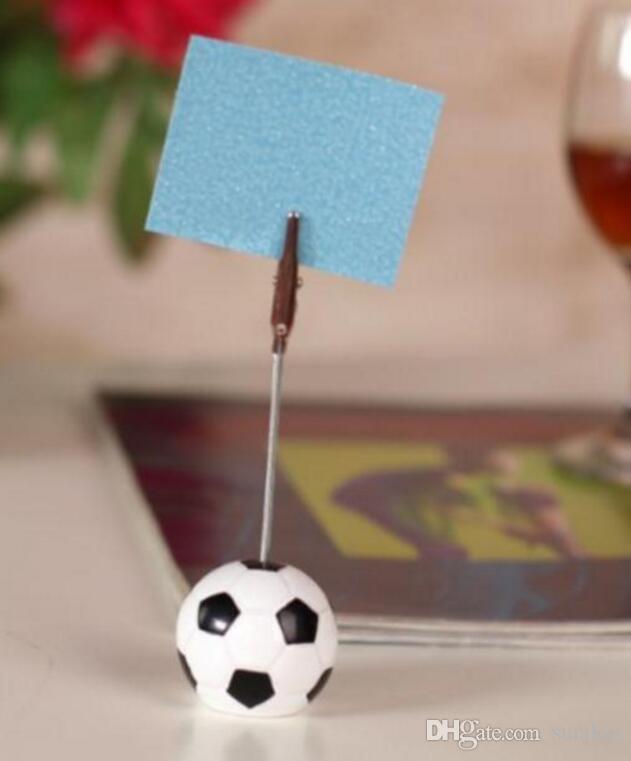 Darmowa Wysyłka + Kolekcja Sport Football Design Miejsce Uchwyt Karty Wiadomości Karty Unikalna ślubna dekoracja stołu