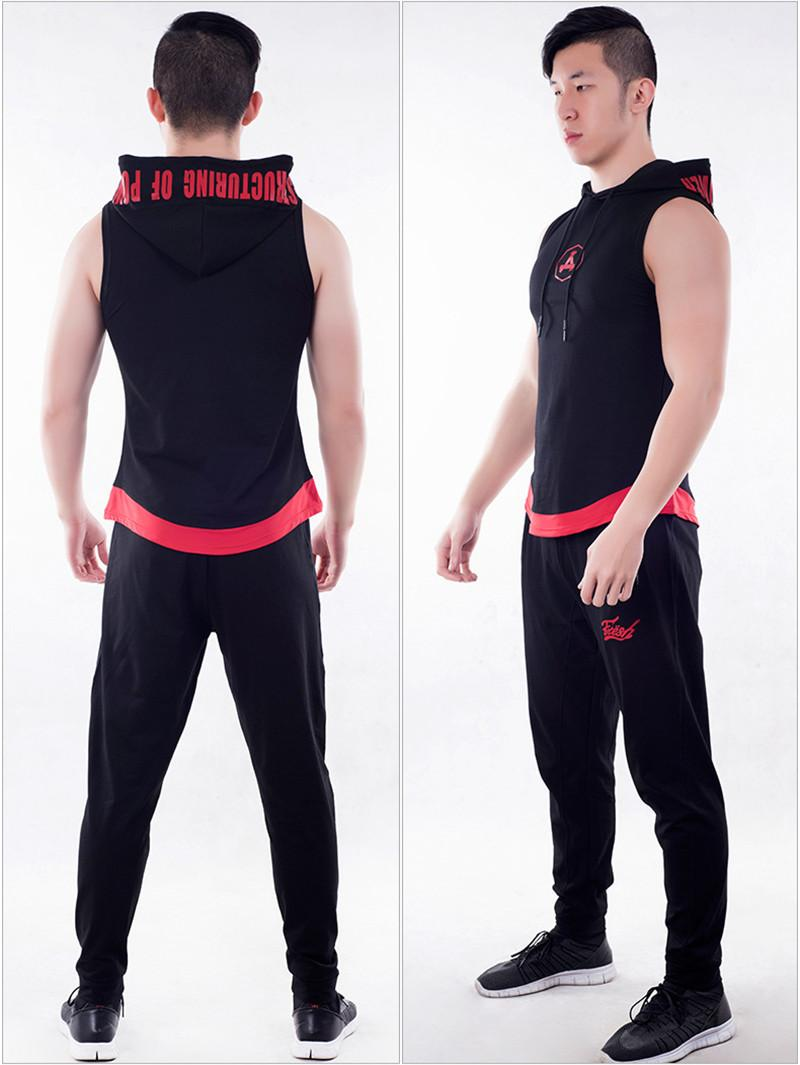 Mens Plus Size 2 pcs Course Ensembles À Manches Courtes Survêtement Sport Jogging Compression Fitness Costumes De Formation T-shirts Et Pantalons
