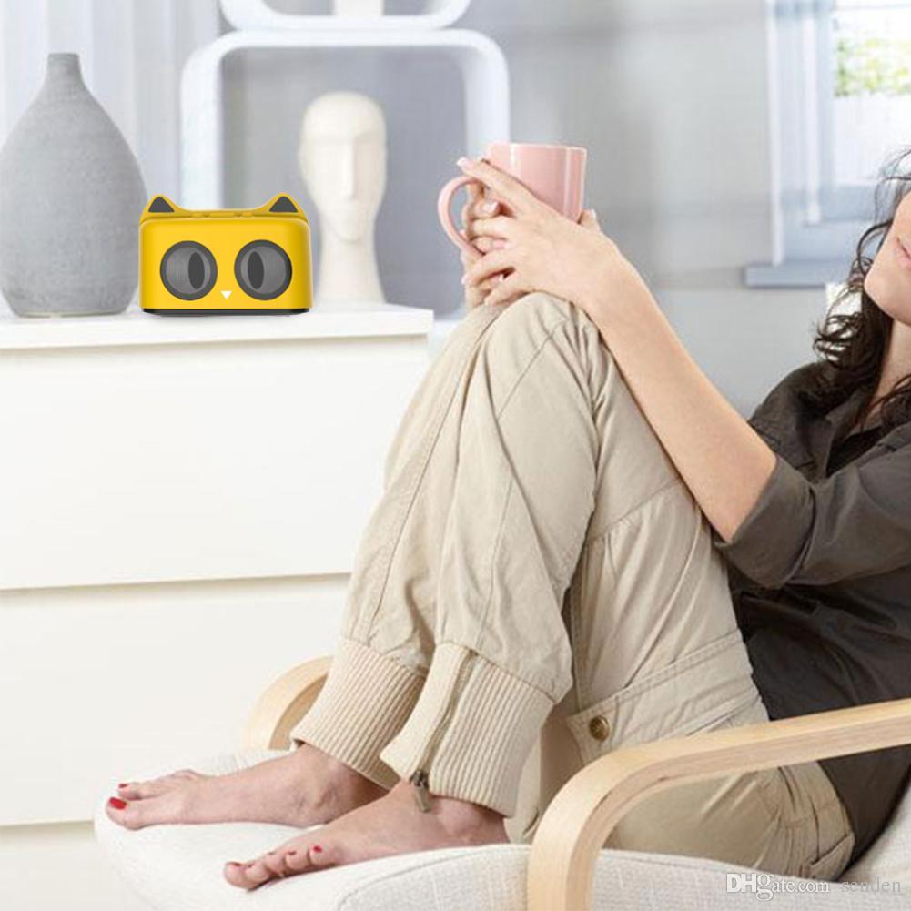 Altavoz portátil Bluetooth para mascotas con gato de manos libres con micrófono para manos libres, juego de tarjeta USB / TF, AUX-in MP3 animal Kitty oreja de gato inalámbrica Sonido Caja Subwoofer
