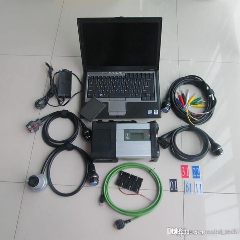MB Yıldız Teşhis Araçları SD Connect C5 ile SSD Süper Spped Laptop D630 Toughbook Tam Kiti