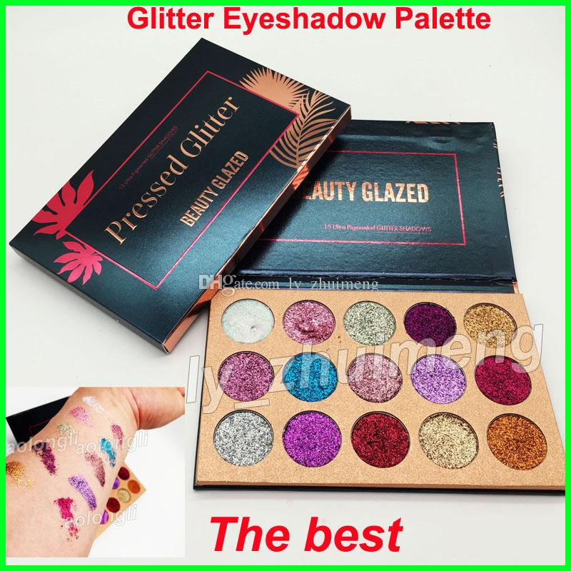 2018 Brand sequined eye shadow palette Beauty Glazed glitter Eyeshadow Palette Unicorn Makeup 15 Colors Eye Shadow Palette DHL free shipping