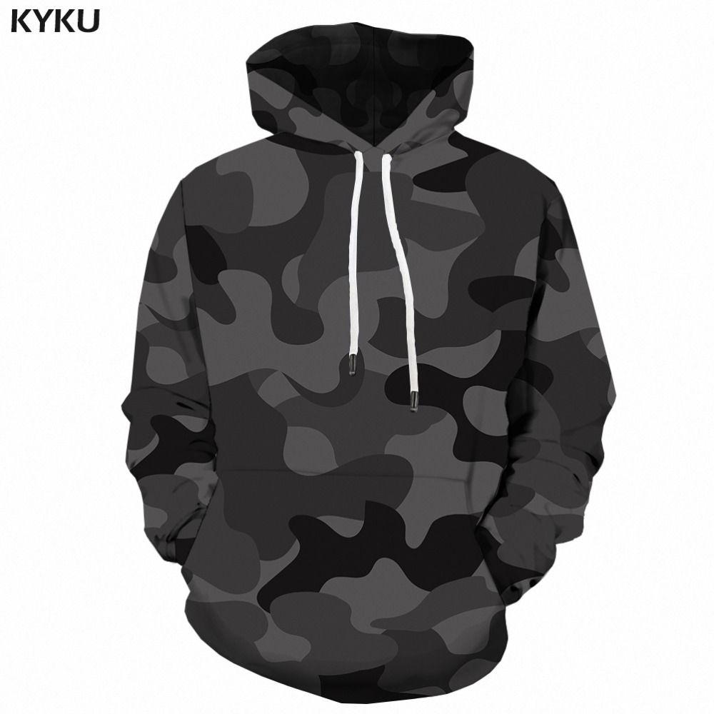 2019 KYKU Black Camo Hoodies Men Camouflage Hoodie Printed 3d Sweatshirt Anime Long Vintage Mens Clothing Gothic Streetwear From Tutucloth, $25.65 |