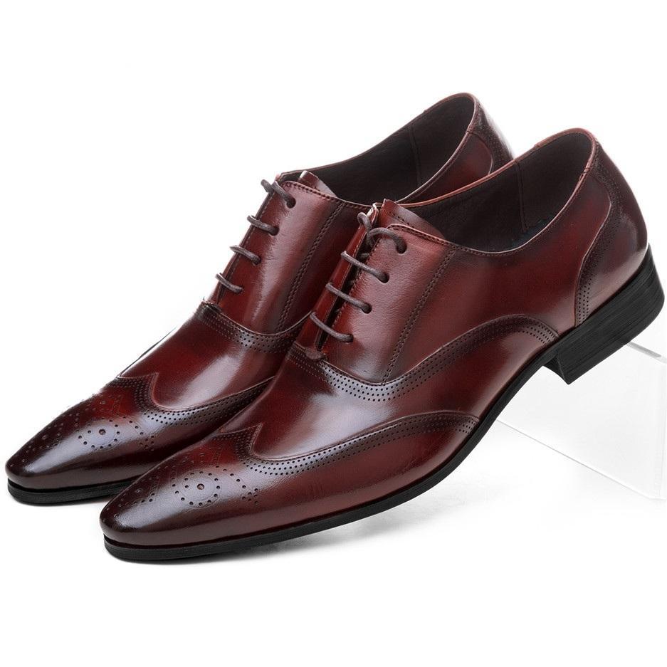 huge discount a7ae1 b1ca9 Großhandel NEUE Schwarz / Braun Tan Oxfords Business Schuhe Aus Echtem  Leder Hochzeit Schuhe Herren Kleid Mode Büroarbeit Von Dealbag, $153.59 Auf  ...