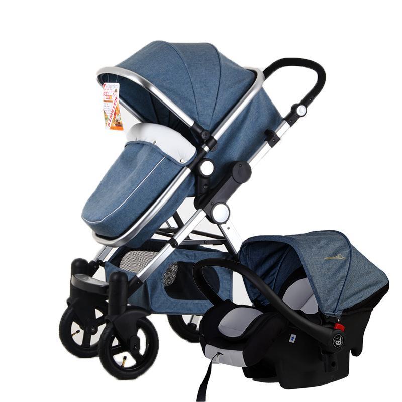 GOLDEN BABY / GoldBaby عربة طفل 2 في 1 3 في 1 المضادة للصدمات مطوية للطي عربة طفل حديث الولادة عربة مقعد السيارة روسيا
