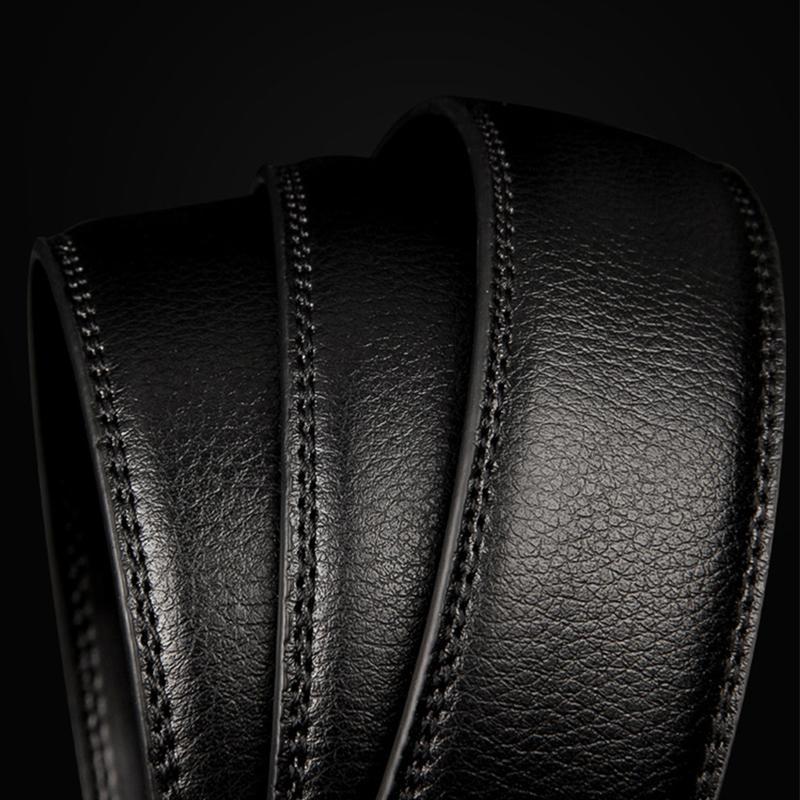 Cinturón de cuero automático de negocios para hombres que reemplaza la cintura sin hebilla