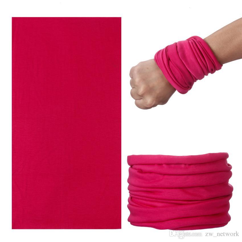 DIY Katı Polyester Bandana atkılar Dikişsiz Hiphop Atkılar Şapkalar Açık spor sürme headcloth Katı güneş koruyucu susturucu Yaka