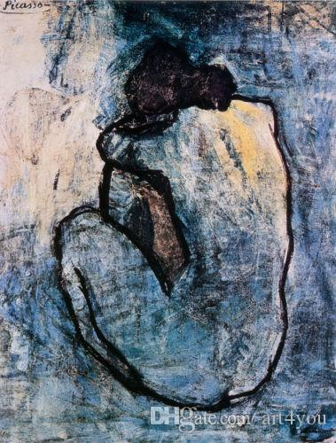 Famous Blue Nude, c.1902 by Pablo Picasso High Quality Handpainted &HD Print Abstract Art oil painting Canvas Home Decor Wall Art g169