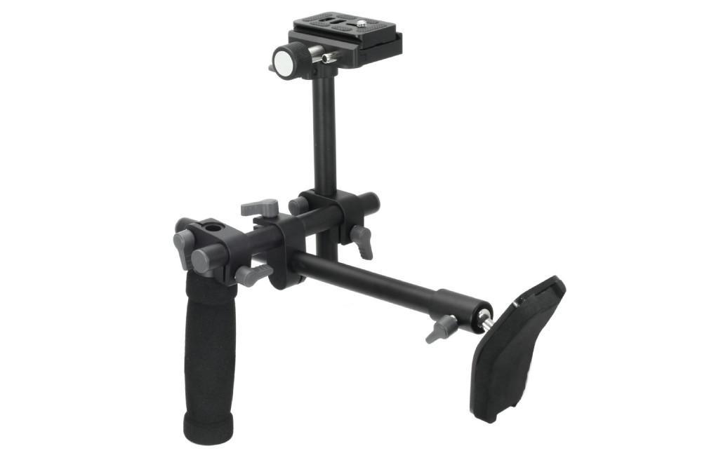 DSLR Griff Schulterstütze Rig Schulterstütze Stabilisator Rig Schnellwechselplatte für A7 R A7II Digitale Videokamera DVD