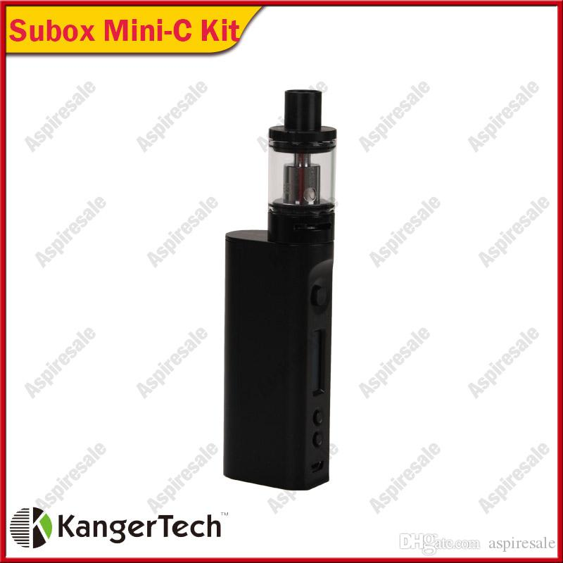 Auténtico Kangertech Subox Mini-C Starter Kit sin batería con Kanger TC 50w KBOX Mini-C Mod y 3.0ml Protank 5 Atomizer