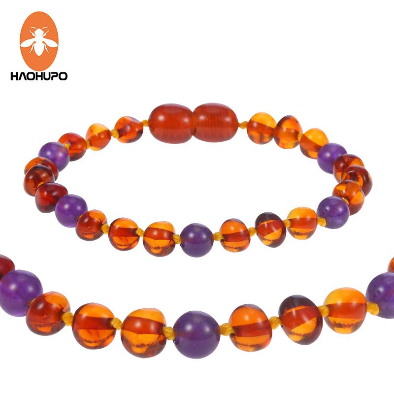 HAOHUPO Baby Amber Bracelets/Anklets Original Ambar Jewelry for Adults Kids Mom Babe Natural Stone Jewelry Gifts Pulseras