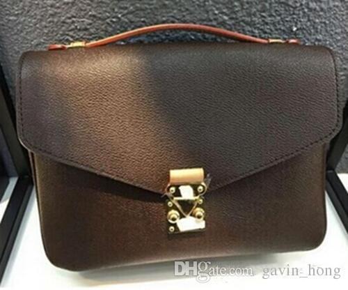 Бесплатная доставка бренд неподдельной кожи высокого качества женщин сумки Pochette Metis мешки плеча Crossbody мешки M40780