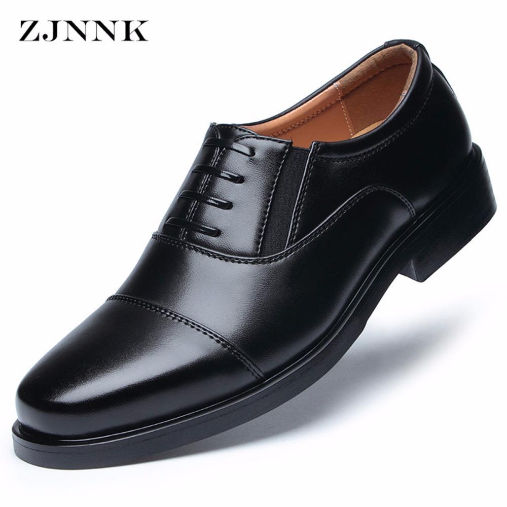 Compre Zjnnk Zapatos De Vestir Para Hombres Zapatos De Cuero Para Caballeros De Punta Cuadrada Zapatos De Estilo Moderno Para Hombres De Moda A 4521
