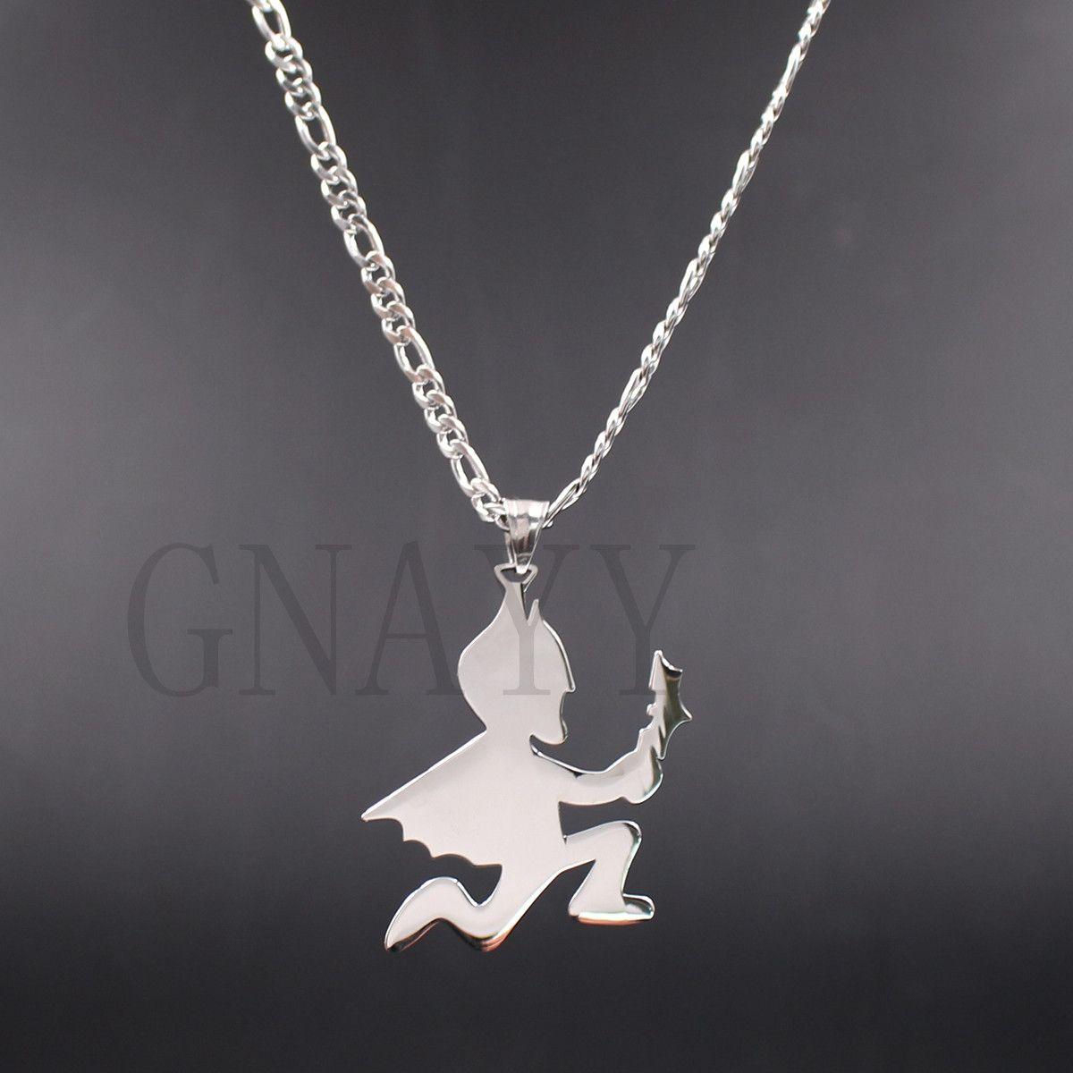 Рождественский подарок Hatchetman Batman juggalo juggalette ICP charm twiztid Фигаро цепь из нержавеющей стали серебро ювелирные изделия корабль бесплатно