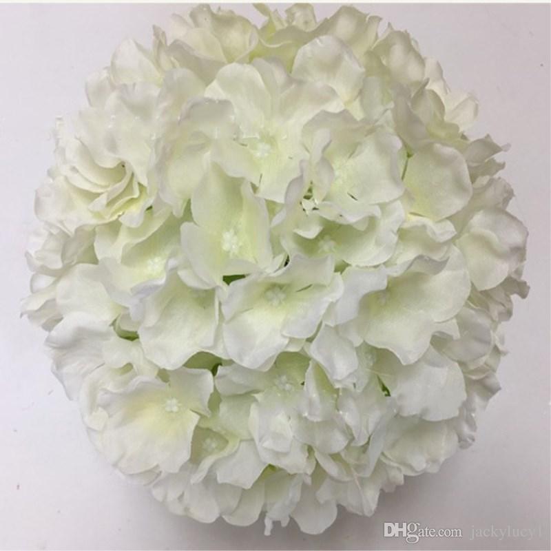 7 Zoll künstliche Hortensie Blume Ball Home Hangings küssen Ball für Weihnachten Ornamente Hochzeit Dekorationen