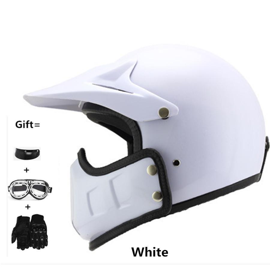 capacetes de motoc Unisex Motorcycle Helmet with Mask Half Open Face Strip Stars Helmet Retro Vintage Universal Cool Man